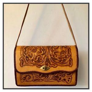 Handbags - Vintage Hand Tooled Leather Bag